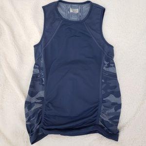 Athleta navy camo workout tank sleeveless large